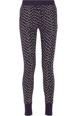 Band Of Outsiders Tulipprint Cottonterry Track Pants - Lyst