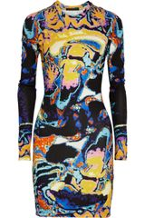 Christopher Kane Printed Stretchjersey Dress - Lyst