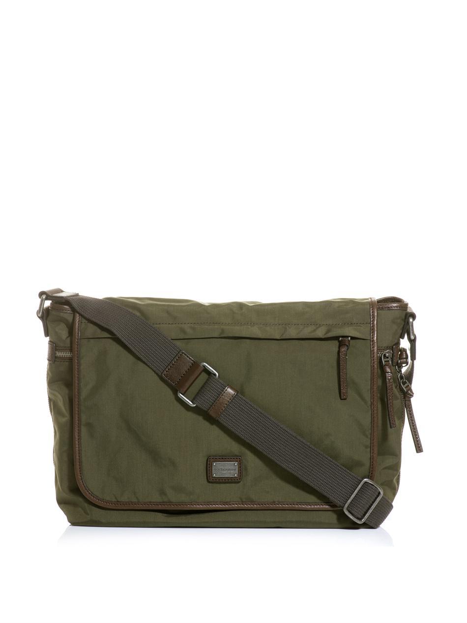 Dolce Amp Gabbana Nylon Messenger Bag In Natural For Men Lyst