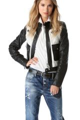 DSquared2 Ginger Biker Leather Jacket - Lyst