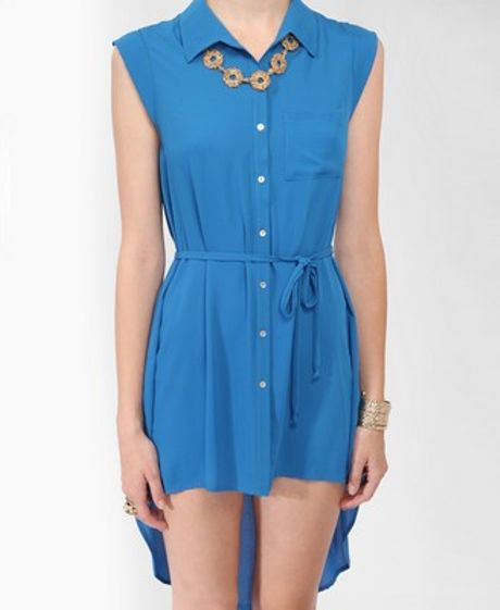 High Low Shirts Forever 21 21 High-low Shirtdress in