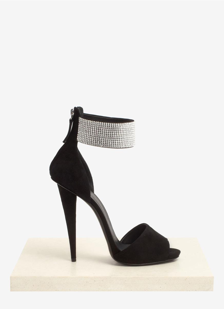 Giuseppe Zanotti Alien Crystal Cuff High Heel Sandals In