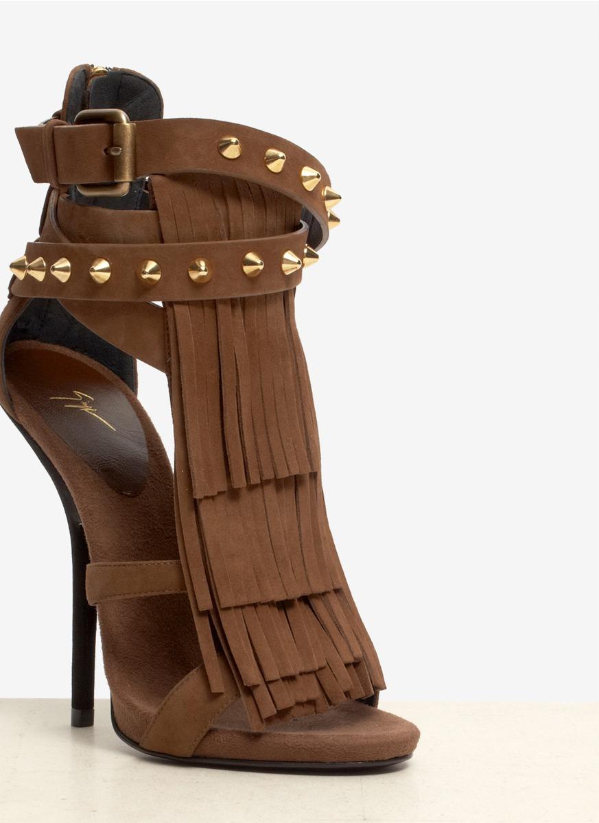 Giuseppe Zanotti Alien Studded Tassel High Heel Sandals In