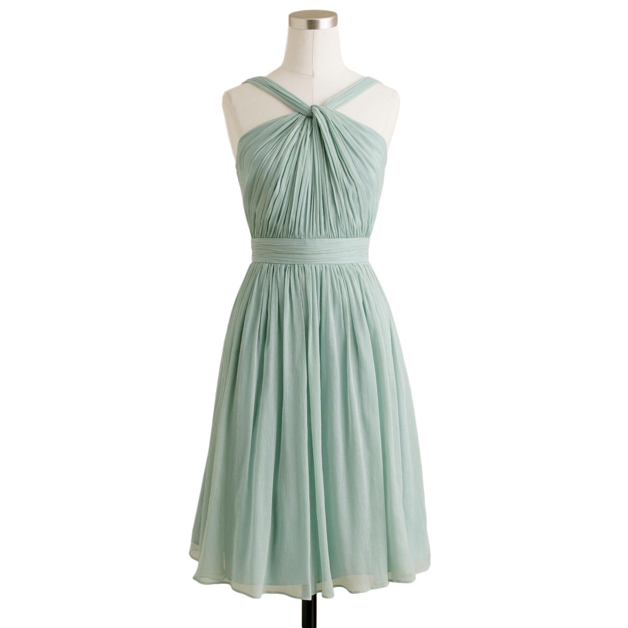 Lyst - J.Crew Petite Sinclair Dress in Silk Chiffon in Green