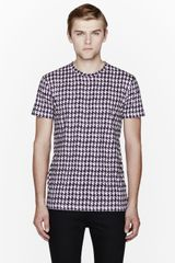 Marc Jacobs White Digital Houndstooth Print Tshirt - Lyst