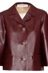 Marni Leather Jacket - Lyst