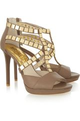 Michael by Michael Kors Studded Leather Sandals - Lyst