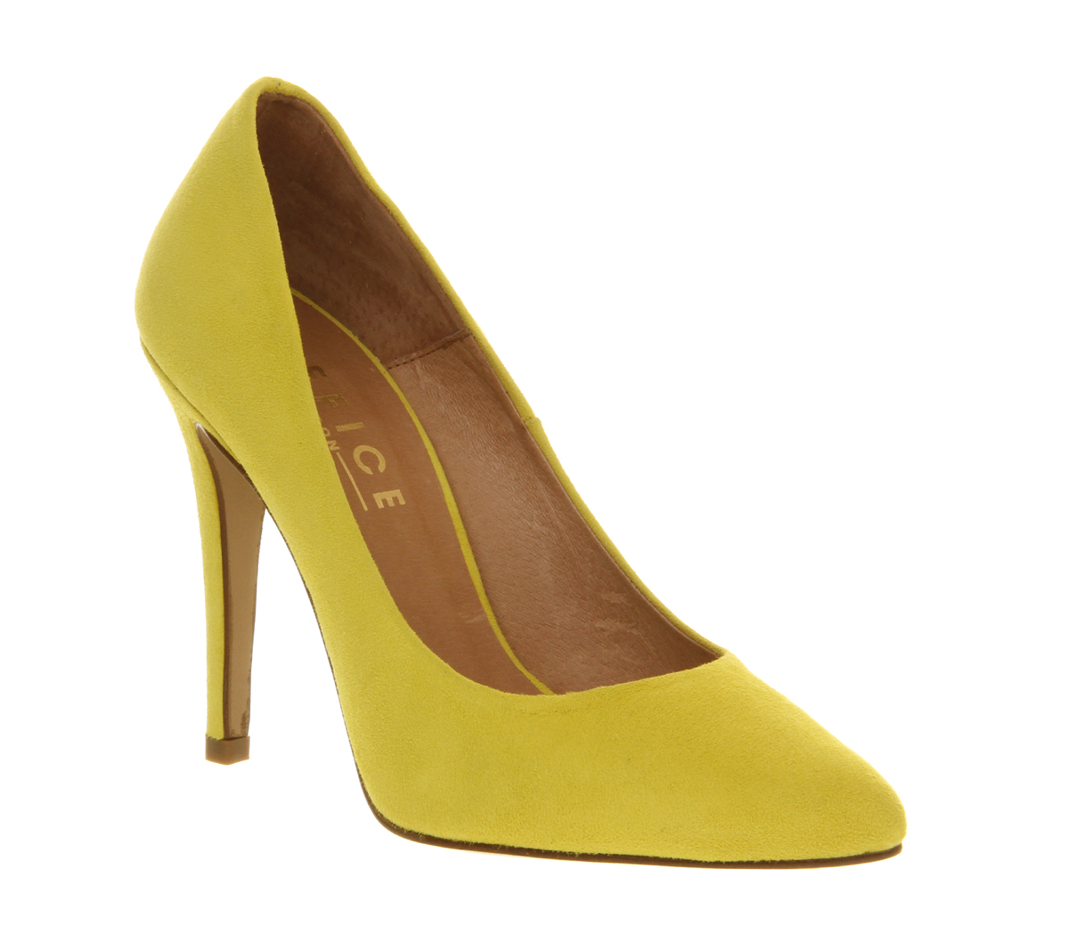 Yellow Suede Heels