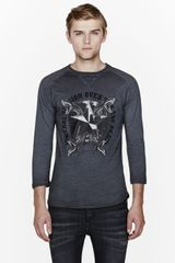 Pierre Balmain Charcoal Grey Over The Top Again Graphic Baseball T_shirt - Lyst