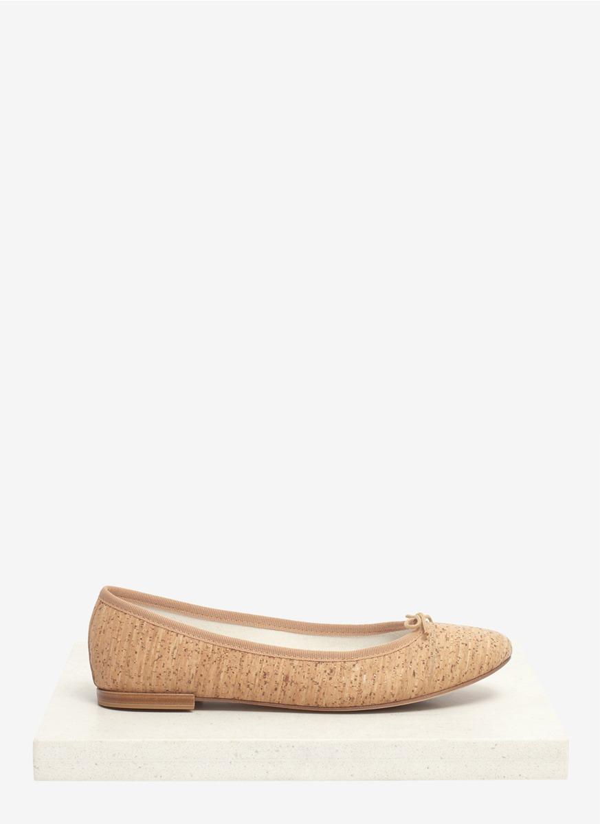 a71995108720 Repetto Cork Ballerina Flats in Natural - Lyst