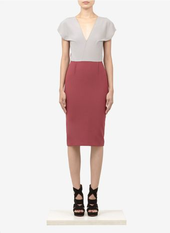 Roland Mouret Afyon Colour Block Wool Blend Dress - Lyst