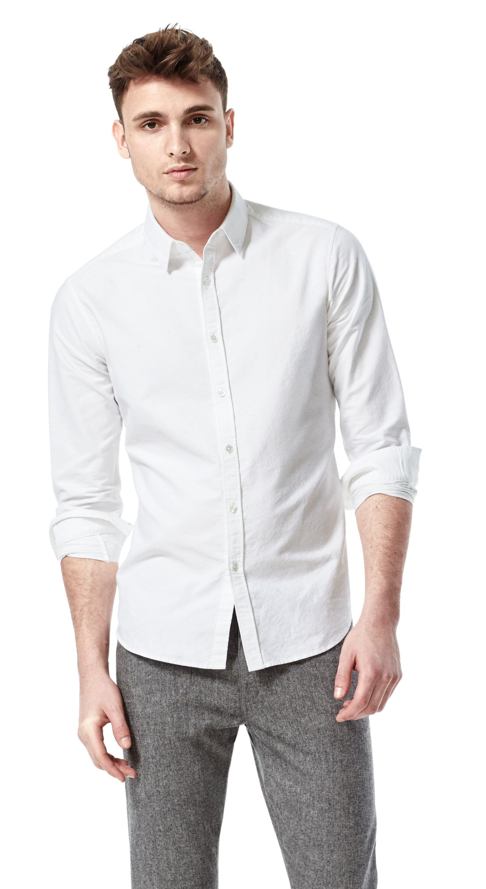 theory zack ps shirt in westover cotton in white for