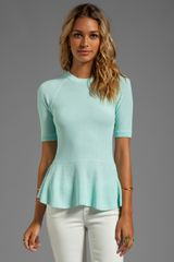 Torn By Ronny Kobo Lala Top in Baby Blue - Lyst