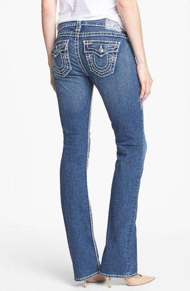 true religion becky super t bootcut jeans in blue dewey. Black Bedroom Furniture Sets. Home Design Ideas