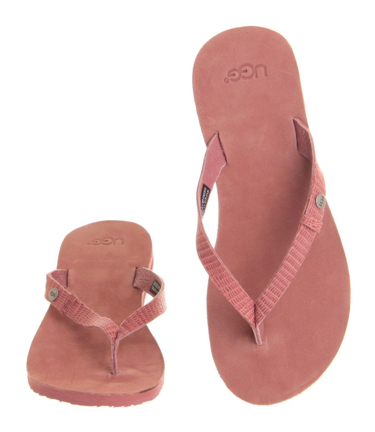 8a40f59f4175 Lyst - UGG Ally Flip Flop in Pink