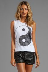 Zoe Karssen Yin Yang Loose Fit Muscle Tank in White - Lyst