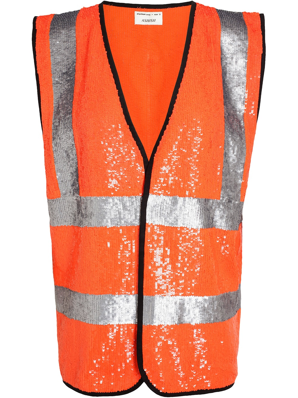 Lyst Ashish Hi Vis Sequin Vest In Metallic