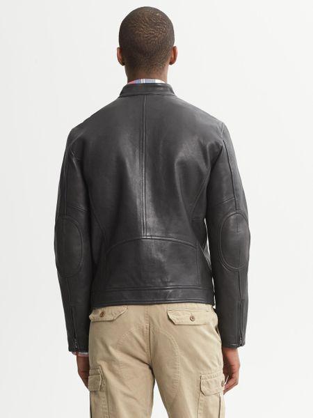 Banana republic leather jacket men