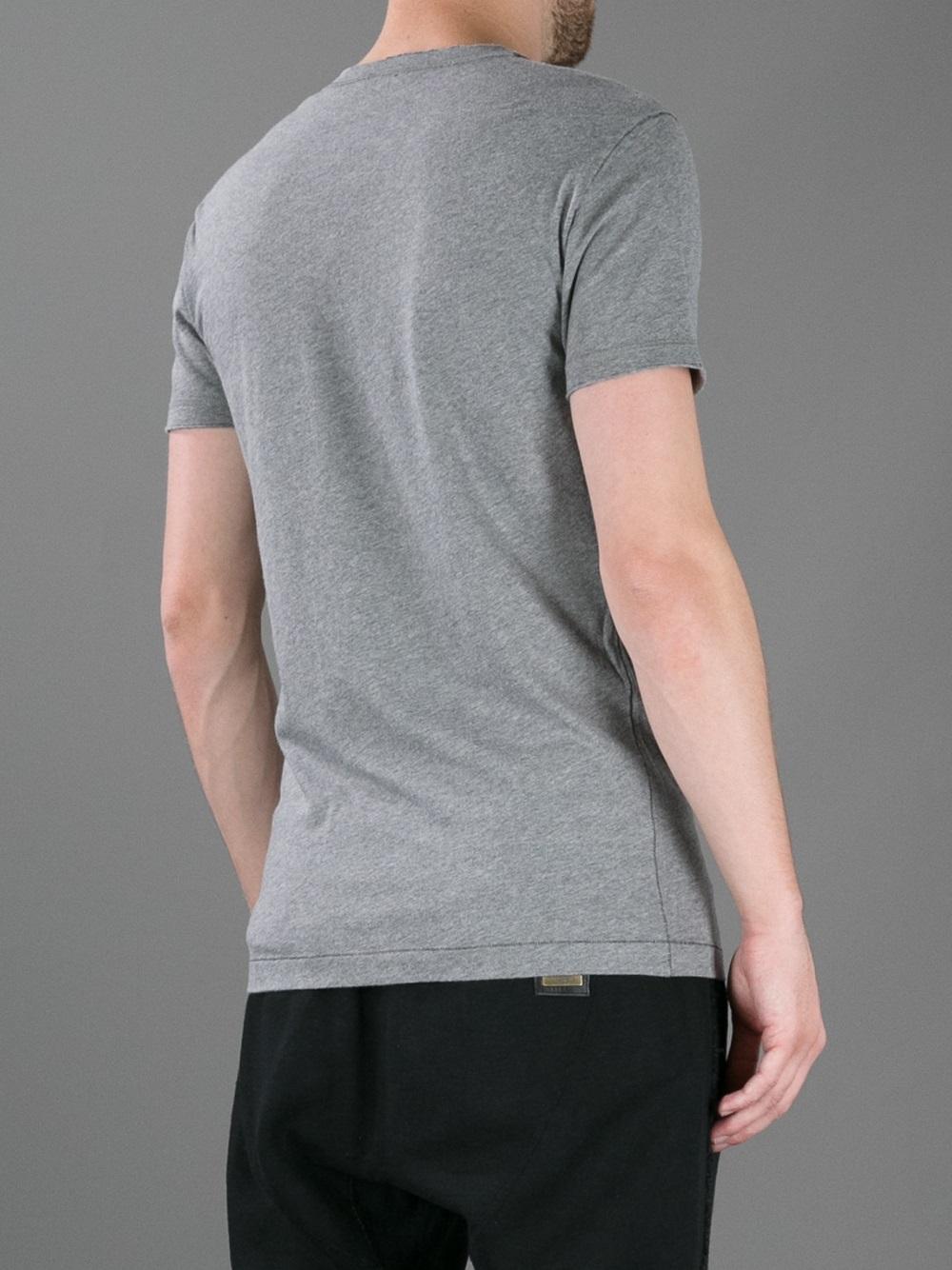 Lyst dolce gabbana muhammad ali printed tshirt in gray for Dolce and gabbana printed t shirts