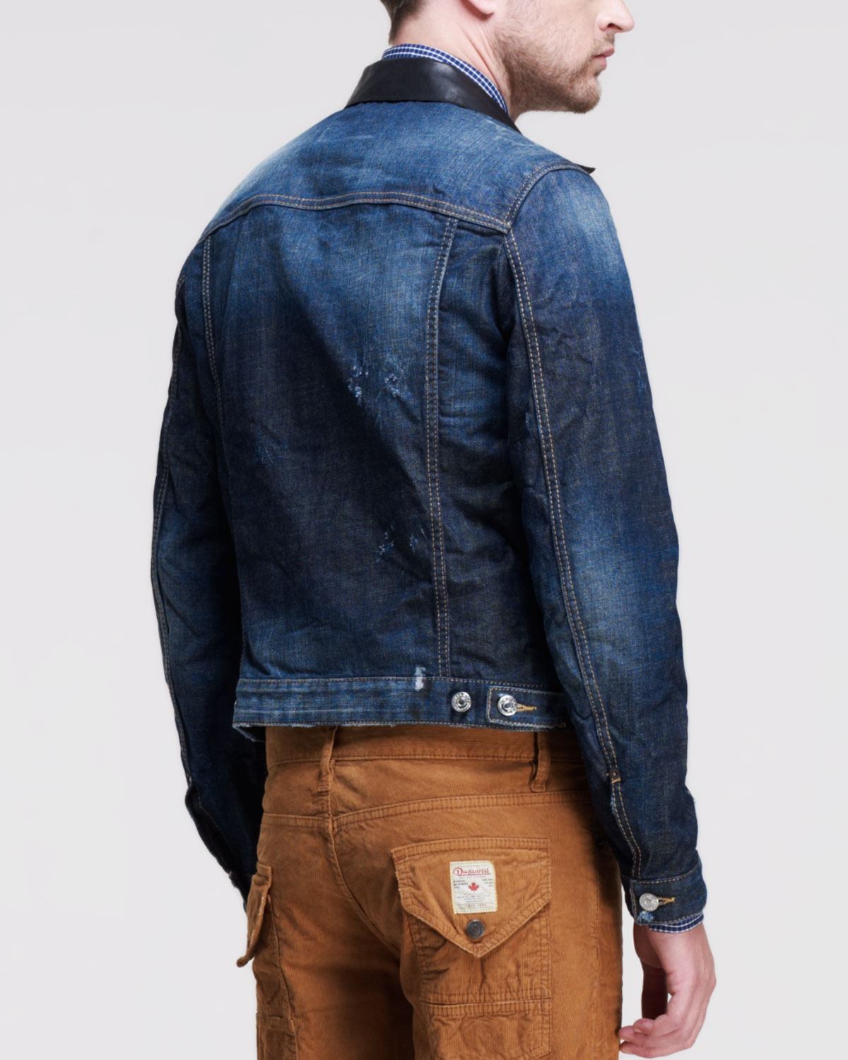 Dsquared² Rookie Washed Jean Jacket In Blue For Men