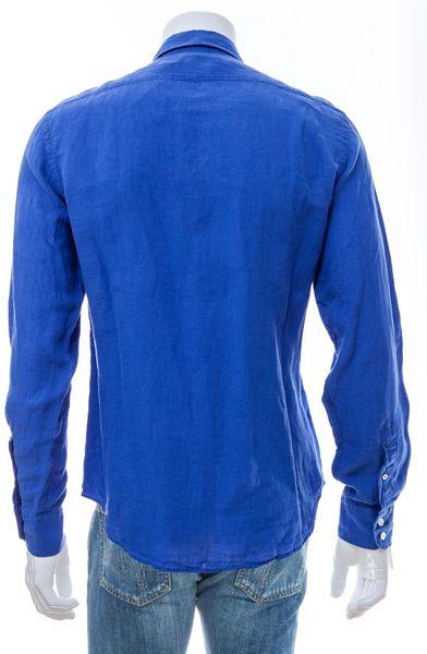Hartford Classic Linen Shirt In Blue For Men Royal Blue
