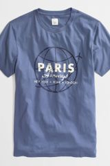 J.Crew Factory Paris Airways Graphic Tee - Lyst