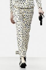 J.W. Anderson Yellow Lilac Paint Brush Cigarette Trouser By - Lyst