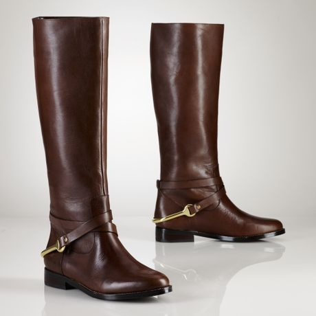 Simple A Selection Of Womens Footwear This Includes A Pair Of Calf Length Boots By The Ralph Lauren Collection With 4&quot Heels The Almond Toed Boots Are Fashioned With Smooth Black Leather Along With A Pair Of Taupe Leather And Navy Blue Patent