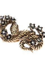 Roberto Cavalli Snake Knuckle Duster Ring - Lyst