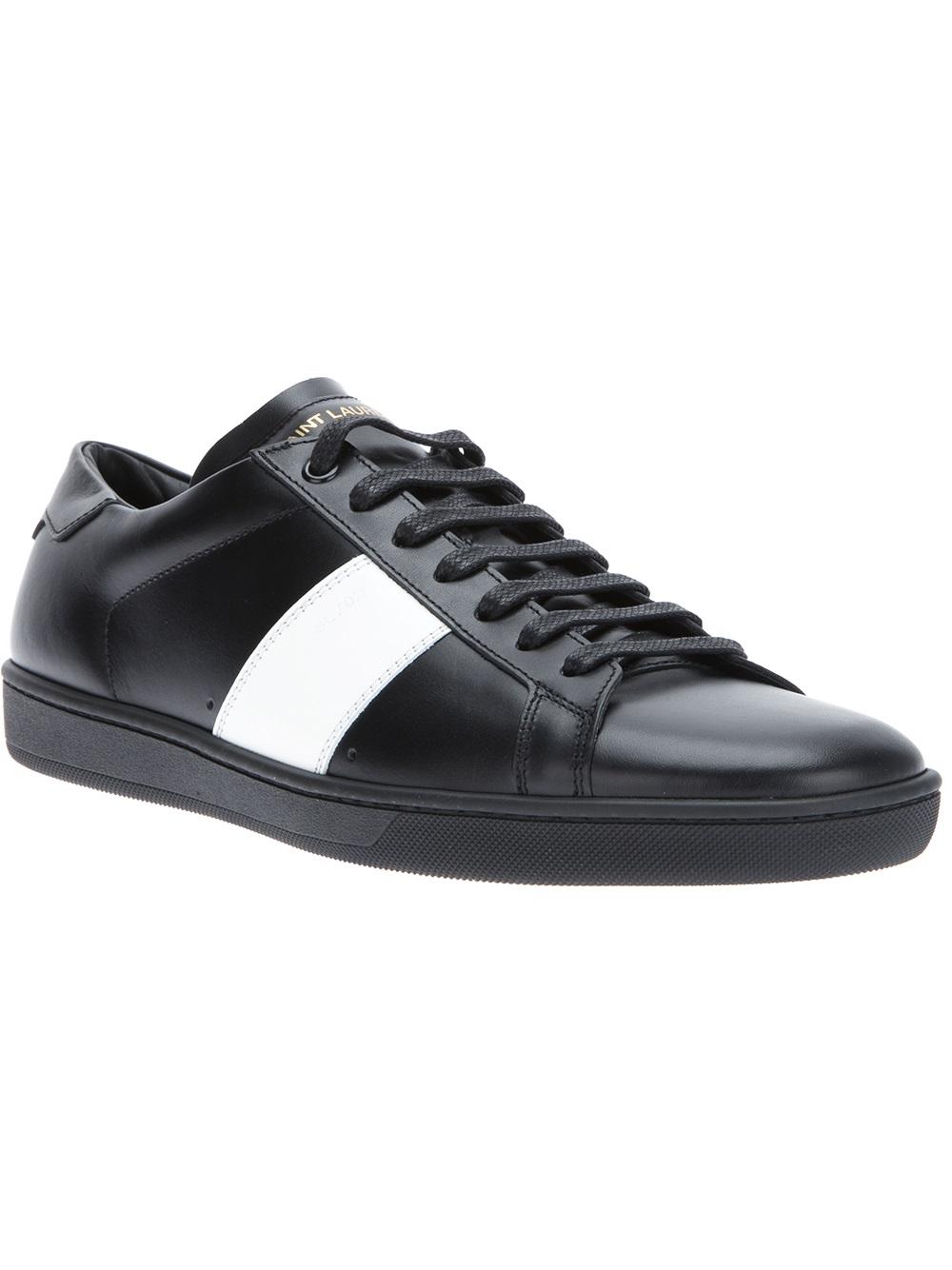 saint laurent wolly sneaker in black for men lyst. Black Bedroom Furniture Sets. Home Design Ideas