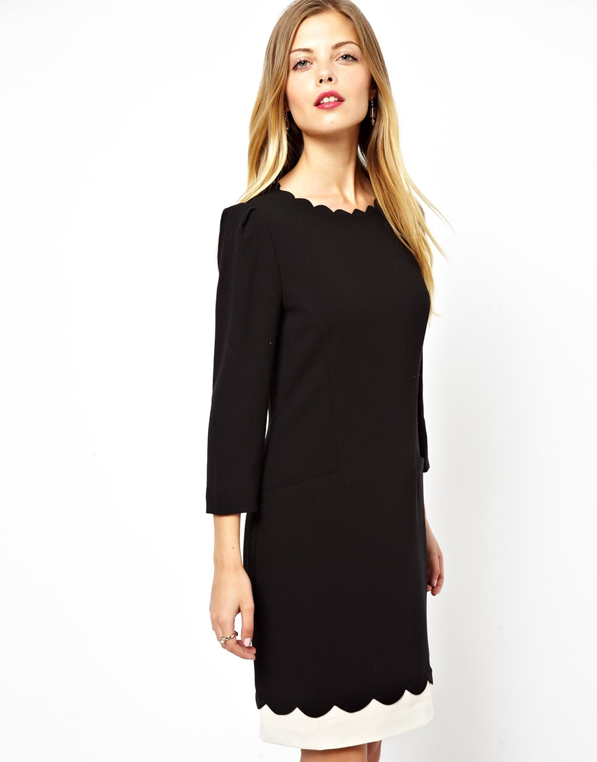 Lyst Ted Baker Shift Dress With Scallop Neck Line And