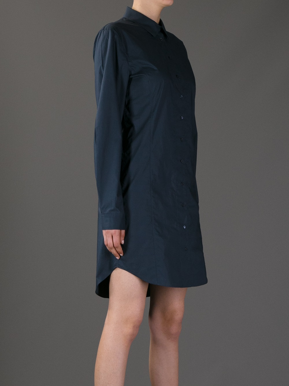 Theyskens' theory Damant Shirt Dress in Blue