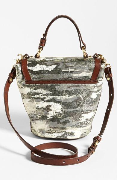 Brahmin Sybil Copa Cabana Crossbody Bag In White Chrome