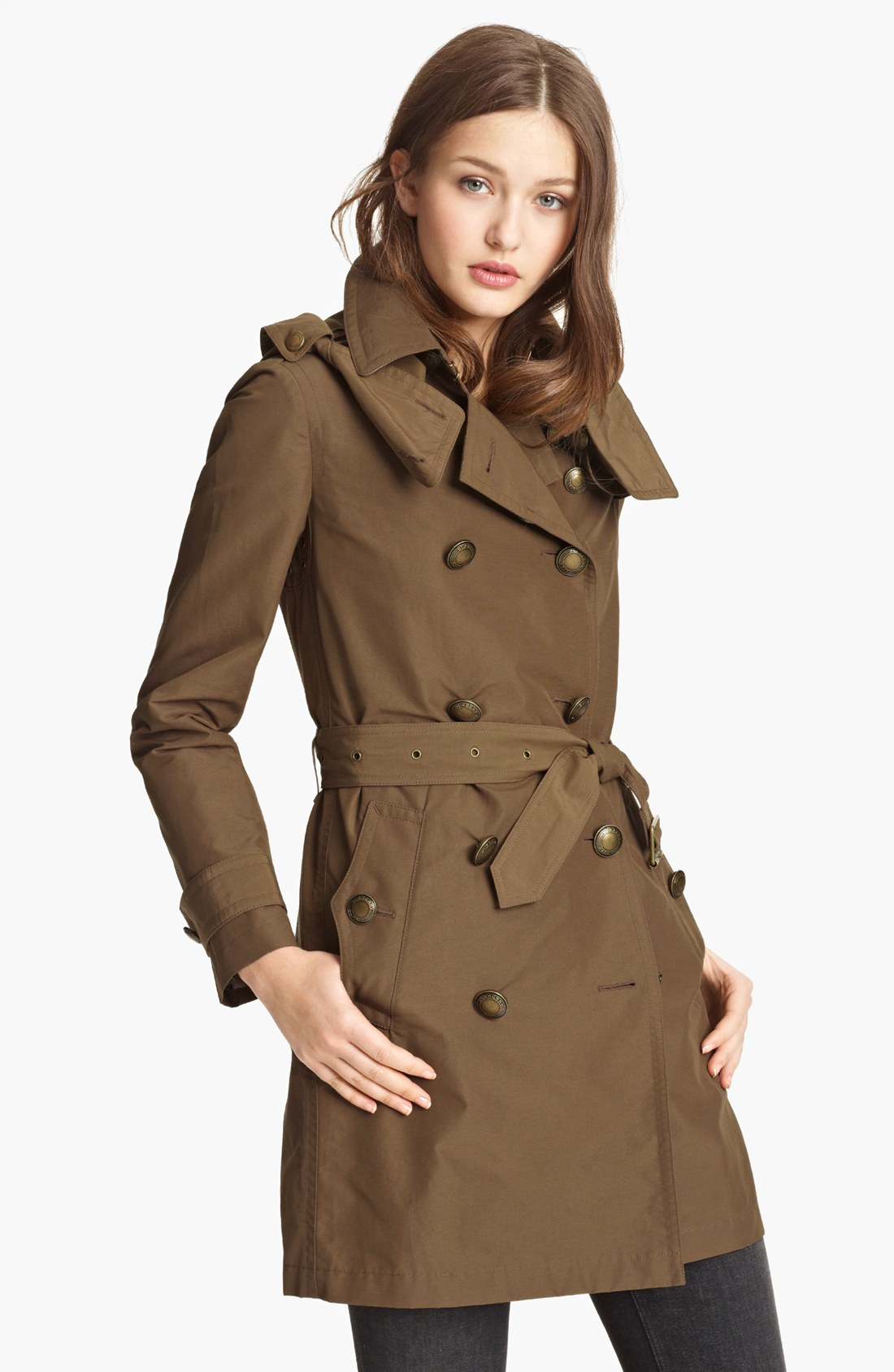 burberry brit balmoral trench coat in brown dark flax lyst. Black Bedroom Furniture Sets. Home Design Ideas