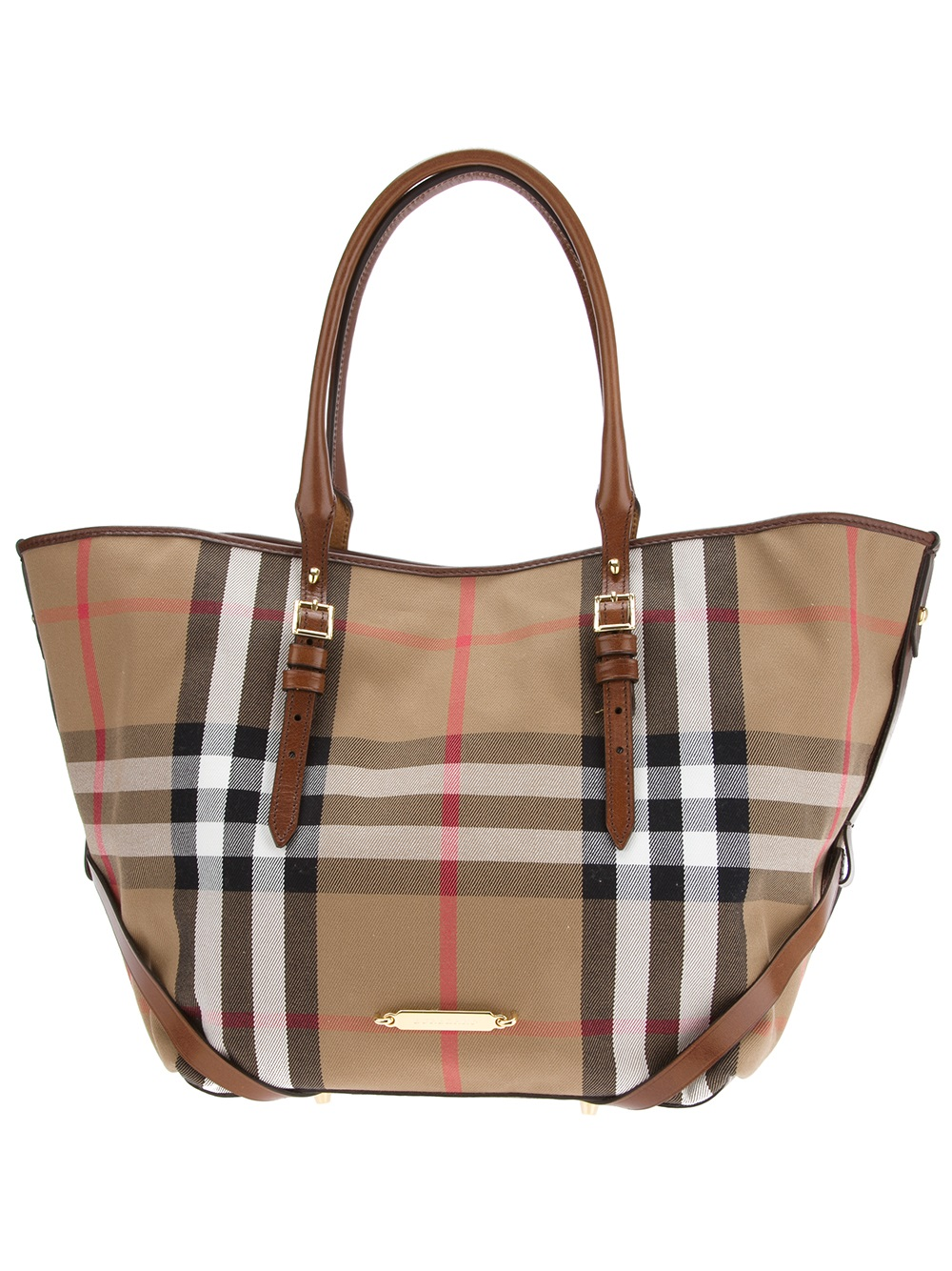 748ece6f9d07 Lyst - Burberry Medium Bridle House Tote Bag in Brown