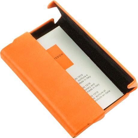Giorgio fedon 1919 orange business card holder in orange for Orange business card holder
