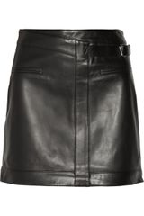 Helmut Lang Ink Leather Mini Skirt - Lyst