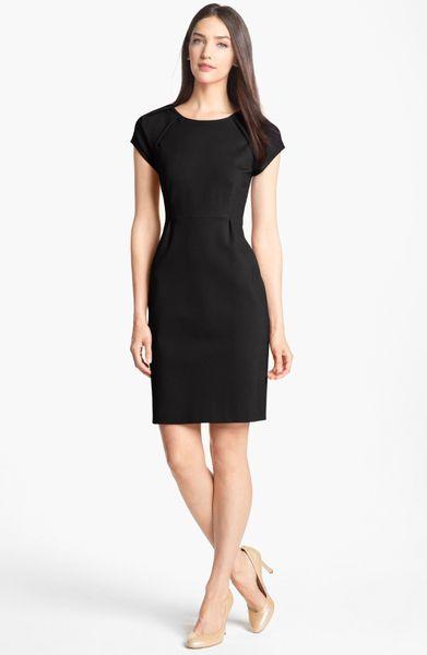 Kate spade ivie stretch sheath dress in black lyst