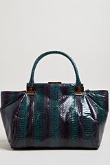 Lanvin Womens Small Snake Trilogy Tote Bag - Lyst