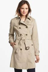 London Fog Quilted Flap Double Breasted Trench Coat - Lyst