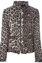Love Moschino Leopard Print Padded Jacket - Lyst