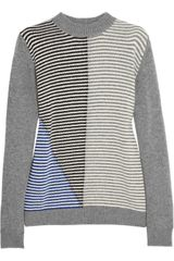 Marni Contraststriped Wool and Cashmereblend Sweater - Lyst