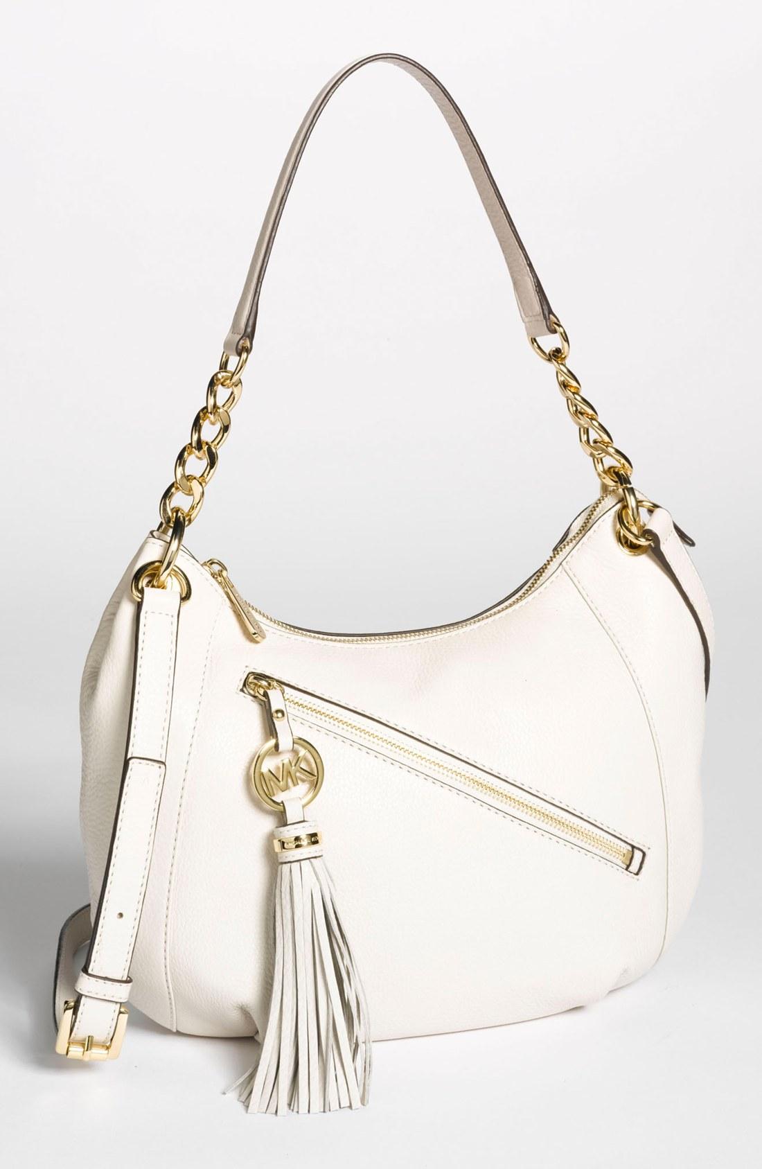 Michael Kors Charm Tassel Convertible Shoulder Bag Vanilla 54