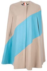 MSGM Diagonal Stripe Cape - Lyst