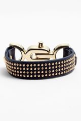 Natasha Couture Studded Leather Bracelet - Lyst