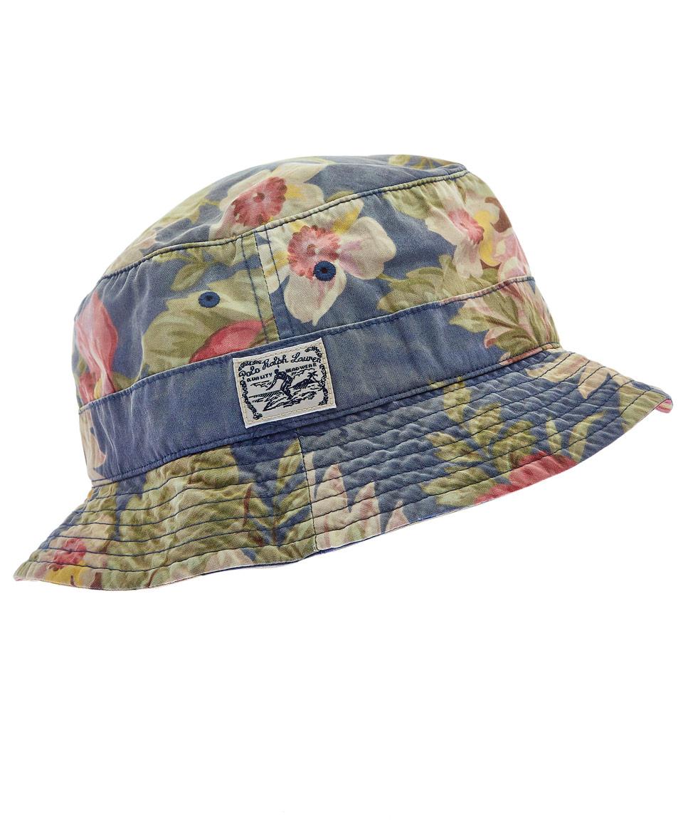 Lyst - Polo Ralph Lauren Blue Hawaiian Print Bucket Hat in Blue for Men b5dd6627564