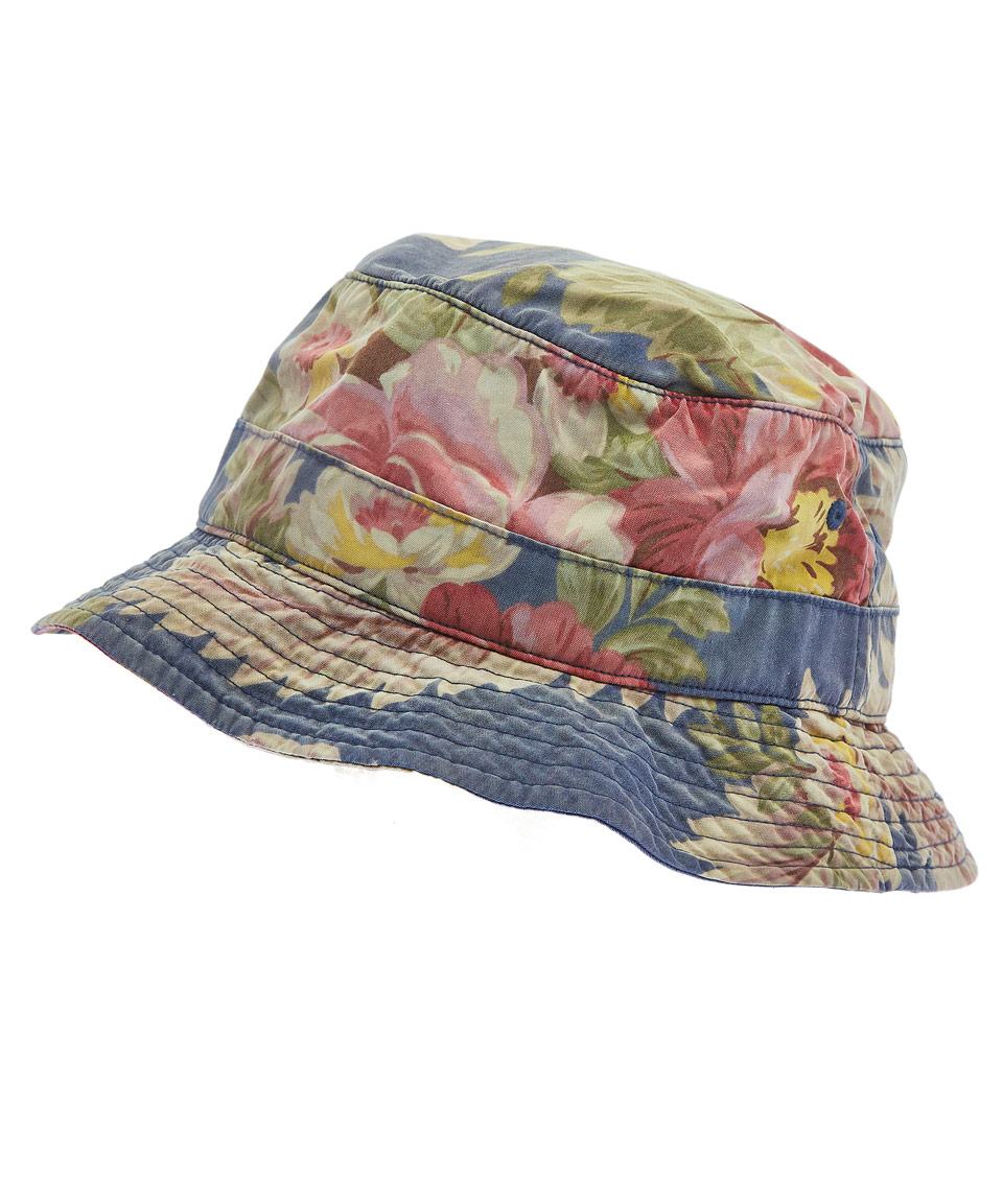 ba2e168ea41 Lyst - Polo Ralph Lauren Blue Hawaiian Print Bucket Hat in Blue for Men