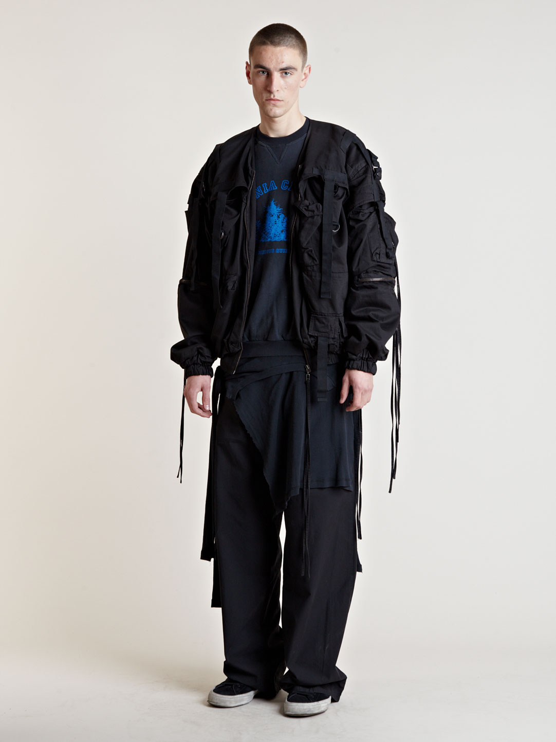raf simons ss03 parachute jacket in black for men lyst. Black Bedroom Furniture Sets. Home Design Ideas