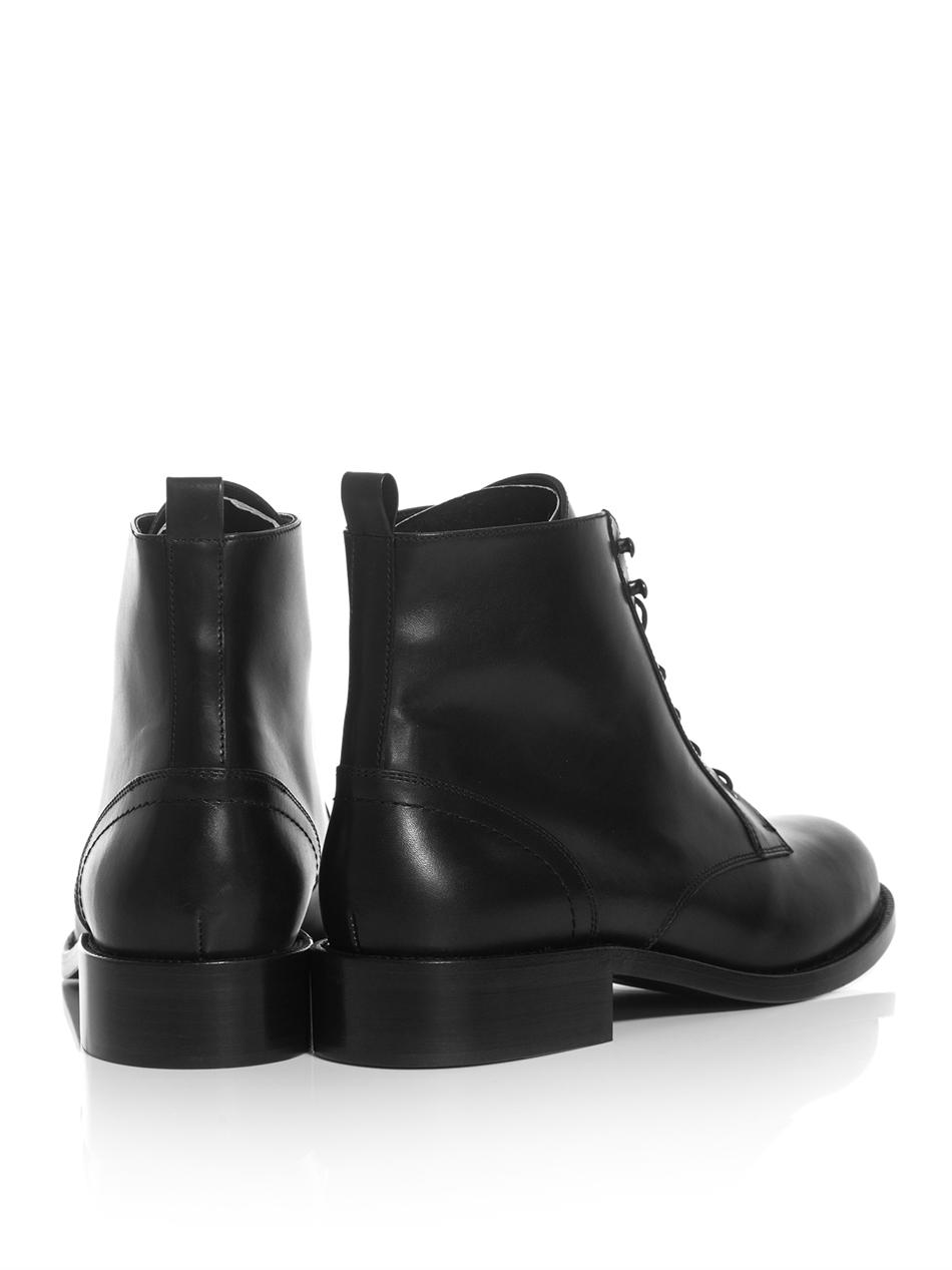 Saint Laurent Leather Boots With Laces TaB3pis