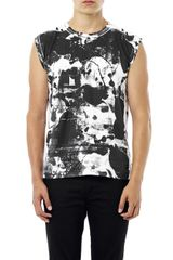 Saint Laurent Rottinger print Tank Top - Lyst